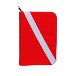 Low Profile 3-Ring Dive Log Binder with Inserts - Red Dive Flag