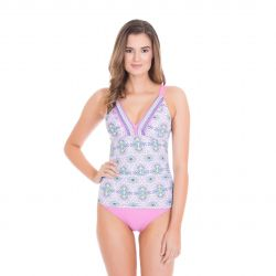 Cabana Life Side-Ruched Tankini +50 UV Structured Swim Top