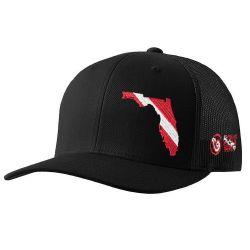 Born of Water Florida Scuba Diver Down Trucker Hat