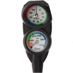 Cressi Mini 2 Gauge Console - SPG/Depth Gauge - Imperial