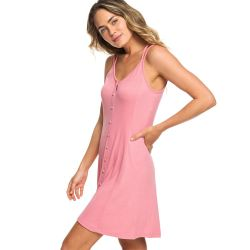 Roxy People Crazyness Button Front Strappy Dress