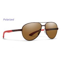 Smith Salute Polarized Carbonic Sunglasses - Matte Brown/Brown