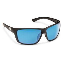 Suncloud Councilman Polarized Polycarbonate Sunglasses - Matte Black/Blue Mirror