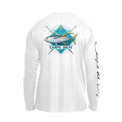 Hooked Long-Sleeve Tuna Diamond Shirt