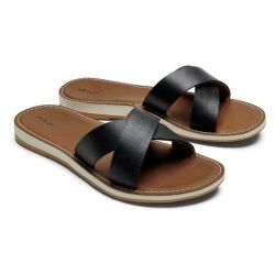 Olukai Ke'a Women's Leather Slide Sandals