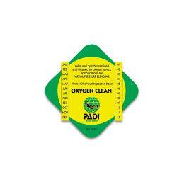 PADI Enriched Air Decal - O2 Clean