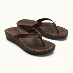 OluKai Ola Leather Wedge Sandals (Women's)