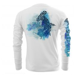 Salty Sportswear Performance Men's UV Long-Sleeve Hammerhead Watercolor