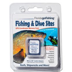 Florida Go Fishing GPS Fishing & Dive Sites Memory Card - Monroe County