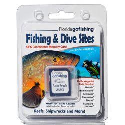Florida Go Fishing GPS Fishing & Dive Sites Memory Card - Palm Beach County