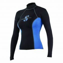 ScubaPro T-Flex UPF 80 Long-Sleeve Rashguard - Black/Blue