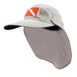 Long Bill Dive Flag Sun Cap