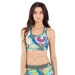 Wave Life Reversible Racer Back Crop Top - Paradise Garden Green