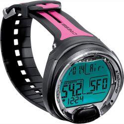 Cressi Leonardo Wrist Dive Computer - Pink/Black