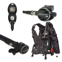 Zeagle Zena BCD Scuba Gear Package with Atomic Z3 and SS1 Titanium Octo, and Suunto Zoop Novo 2 Gauge Console Dive Computer (Women's)