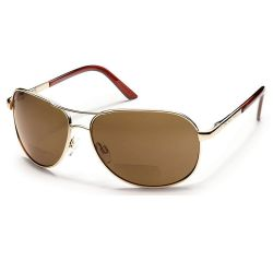 Suncloud Aviator Gold/Brown Sunglasses +2.00
