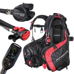 Atomic BC1 BCD Scuba Gear Package with B2 Regulator, SS1 Octo/Inflator, and Cobalt 2 Console Computer