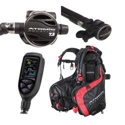 Atomic BC1 Elite Scuba Gear Package with T3 Regulator, SS1 Octo, and Cobalt 2 Console Dive Computer
