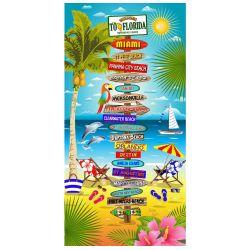 Florida Signs Beach Towel