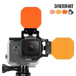 Backscatter Flip7 Three Filter Underwater Color-Correction Shallow, Dive & Deep Kit for GoPro Hero7