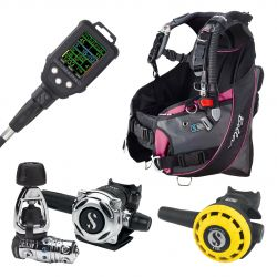ScubaPro Bella Upgrade Scuba Gear Package (Women's) with MK25 EVO/A700 Regulator, R195 Octopus, Galileo Console