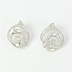 """""""Flipper"""" Dolphin Earrings by Big Blue Jewelry"""