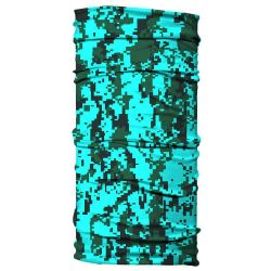 Born of Water Neck Gaiter - Digital Camo Sea Green