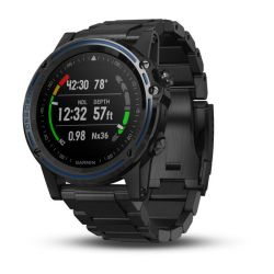 Garmin Descent Mk1 Titanium Bezel GPS Compact Wrist Dive Computer and Fitness Smartwatch - Gray Sapphire with DLC Titanium Band