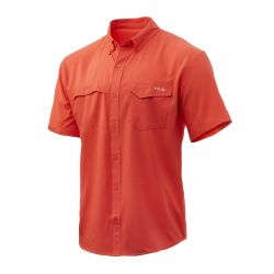 HUK Tide Point Solid Shirt, Short Sleeve