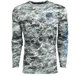 Costa Mossy Oak Elements Tech Crew Top