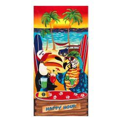 A To Z Towels Happy Hour Beach Towel 30X60
