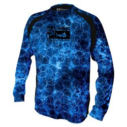 PELAGIC VaporTek Hexed UPF 50+ Long-Sleeve Performance Youth Shirt