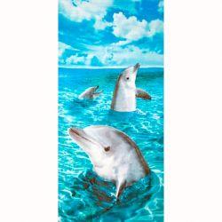 Dohler Dolphins III Beach Towel - 30 x 60