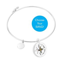 Dune Sterling Silver Compass Bangle