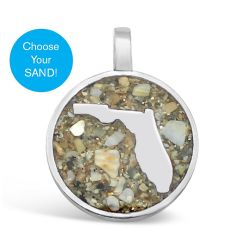 Dune Sterling Silver Florida Charm