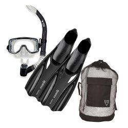 EVO Drift Purge/Semi-Dry Snorkel/Mares Manta/Gear Bag Snorkeling Gear Set