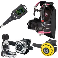 ScubaPro LadyHawk BCD Scuba Package (Women's) with MK25 EVO/A700 Regulator, R195 Octopus, G2C Galileo Dive Computer Console