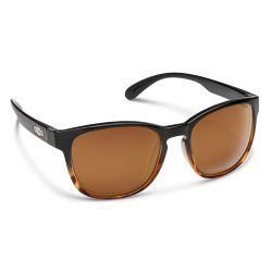 Suncloud Loveseat Polarized Polycarbonate Sunglasses - Black Tortoise/Brown