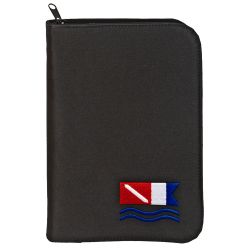 Low Profile 3-Ring Dive Log Binder with Inserts - Black Dive Flag