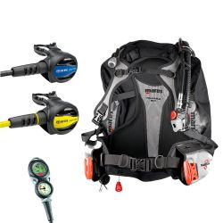 Mares Journey Travel Scuba Gear Package: Magellan BCD, Journey 15X Reg, Journey Octo, Mission Puck 2 Dive Computer