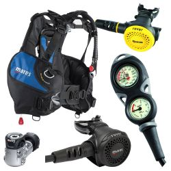 Mares Intro Scuba Gear Package: Prime BCD/Rover 15x/Rover Octo/Mission 2 Gauge Console