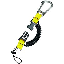 Mini Snappy Coil with Stainless Steel Carabiner - Yellow