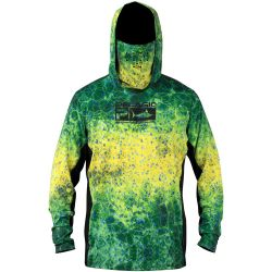 PELAGIC Exo-Tech +50 UPF Long-Sleeved Hoodie with Face Shield