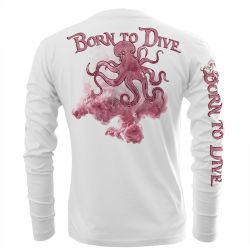 Salty Sportswear Performance Men's UV Long-Sleeve Born to Dive