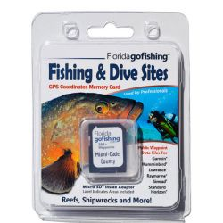 Florida Go Fishing GPS Fishing & Dive Sites Memory Card - Miami Dade County