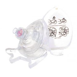 Deluxe Pocket CPR Mask with O2 Adapter