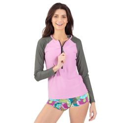 Wave Life Paradise Garden Long-Sleeve Zipper Rashguard